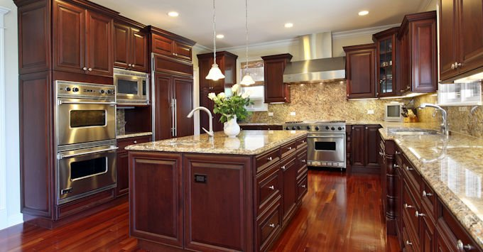 Kitchen in a newer home